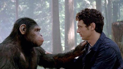 Caesar Monkey Drawing Caesar And His Human Friend
