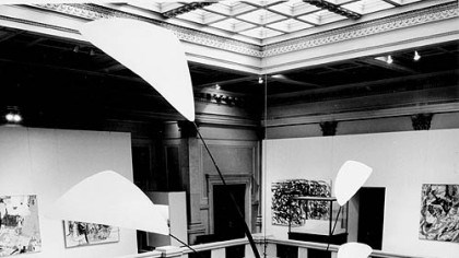 "Calder in the Carnegie Alexander Calder's ""Pittsburgh"" in its first happy home, the Carnegie Museum, in 1958."