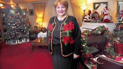 Carol Vicini chistmas lady Carol Vicini, with her year-round Christmas decorations in her home in Whitehall.