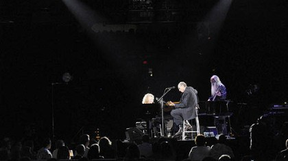 Carole King and James Taylor Carole King and James Taylor perform at the Mellon Arena.
