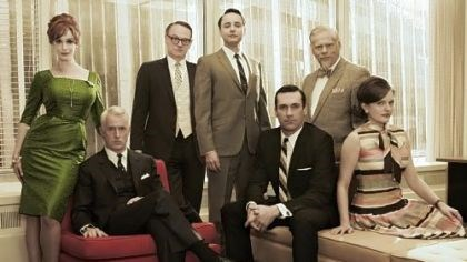 "Cast of 'Mad Men' ""Mad Men"" -- with Christina Hendricks, left, John Slattery, Jared Harris, Vincent Kartheiser, Jon Hamm, Robert Morse and Elisabeth Moss -- produced another stellar season in 2012."
