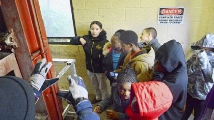 CASTLE Fifth-graders from Clairton Middle School tour the Clairton Municipal Authority water treatment plant on Nov. 7 as part of an after-school program called CASTLE.