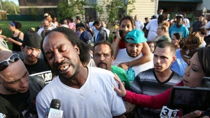 Charles Ramsey Neighbor Charles Ramsey speaks to media near the home on the 2200 block of Seymour Avenue, where three missing women were rescued in Cleveland. Cheering crowds gathered on the street where police said Amanda Berry, Gina DeJesus and Michele Knight, who went missing about a decade ago, and were found earlier in the day.