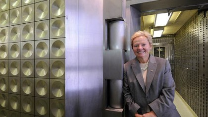 Charlotte Zuschlag ESB Bank CEO Charlotte Zuschlag. She hosts breakfasts for non-management employees at the bank's Ellwood City headquarters.