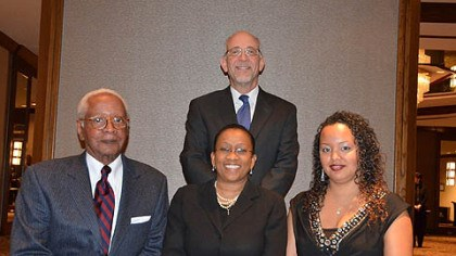 Chauncey W. Smith, Paula K. Davis, Epryl King, David A. Harris Chauncey W. Smith, Paula K. Davis, Epryl King, David A. Harris (standing).