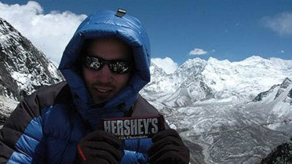 Chocolate on Everest Hershey's has provided 50 pounds of chocolate to boost the climbers' energy and spirits.