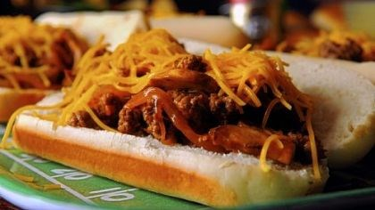 Chopped steak sandwich Chopped steak sandwich for NFL playoff parties.