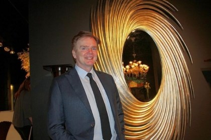 Christopher Guy Harrison Furniture designer Christopher Guy Harrison at the opening of his new Las Vegas showroom.