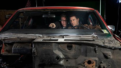 "Christopher McQuarrie and Tom Cruise Director and screenwriter Christopher McQuarrie and Tom Cruise on the set of ""Jack Reacher."""