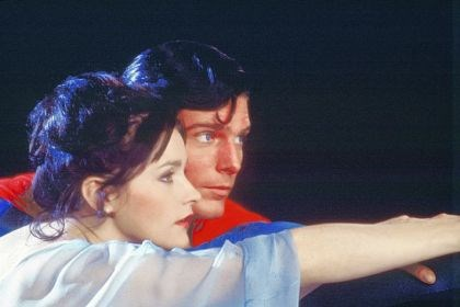 "Christopher Reeve and Margot Kidder Christopher Reeve, as Superman, and Margot Kidder, as Lois Lane, appear in a scene from the 1978 movie ""Superman."""