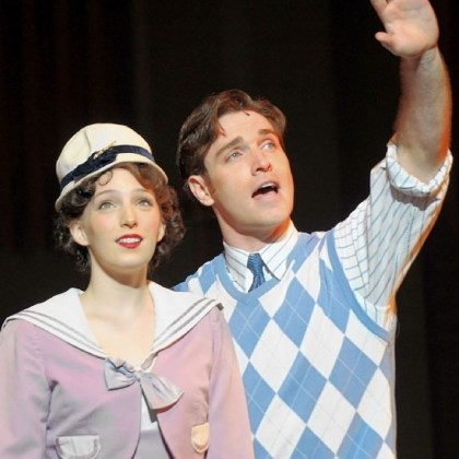 "CLO's '42nd Street' Ephie Aardema is a starry-eyed Peggy Sawyer to Tyler Hanes' Billy Lawlor in Pittsburgh CLO's ""42nd Street."""