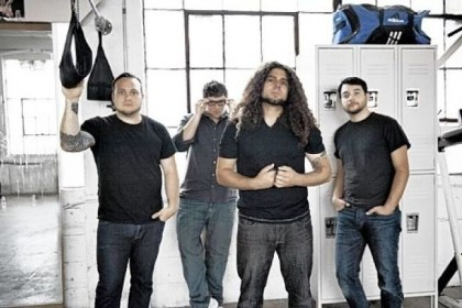 Coheed and Cambria Coheed and Cambria: Travis Stever, Josh Eppard, Claudio Sanchez and Zach Cooper.