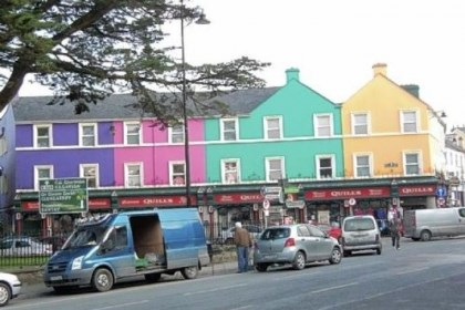 Colorful stores Colorful stores brighten the Irish landscape.