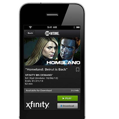 Comcast Xfinity Player app The Comcast Xfinity Player app lets subscribers download, rather than just stream, content to their mobile devices.