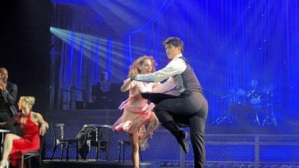 "'Come Fly Away' Ramona Kelly and Christopher Vo perform to music of Frank Sinatra in ""Come Fly Away."""