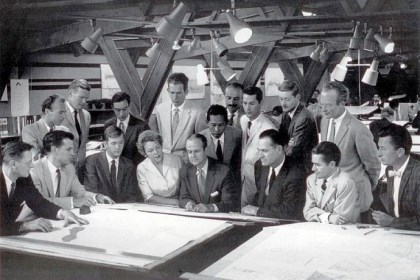 Cornelia Brierly Cornelia Brierly sits front and center among Taliesin apprentices, in the Taliesin drafting room in Spring Green, Wisc., after Frank Lloyd Wright's death in 1959.