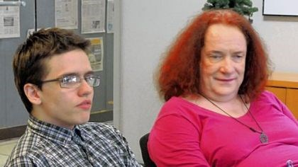 Couple in conflict with Pitt Seamus Johnston, left, filed a complaint Monday with the Pittsburgh Commission on Human Relations that charges officials at the University of Pittsburgh with discrimination.