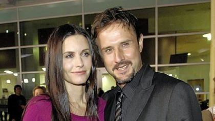 Courteney Cox and David Arquette Courteney Cox, shown with her husband, David Arquette, in a 2008 photo, says that she's not ready to give up on their marriage.