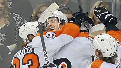 Couturier The Flyers' Sean Couturier, center, 19, is drawing some peculiar comparisons from his teammates.