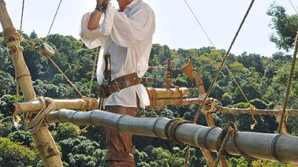 """Crusoe"" Philip Winchester as Robinson Crusoe in ""Crusoe."""