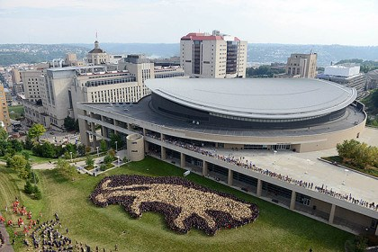 Petersen Events Center Pitt fans will flock to Panthers' games again this season at the Petersen Events Center.