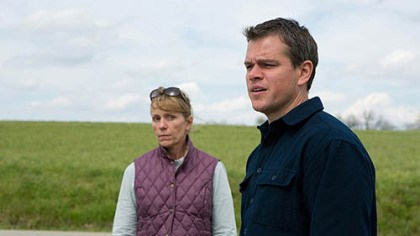 "damon and mcdormand Frances McDormand and Matt Damon in ""Promsied Land."""