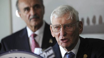 Dan Rooney AFL-CIO President William George holds a press conference with awardee Dan Rooney, the U.S Ambassador to Ireland at the Westin Convention Center.