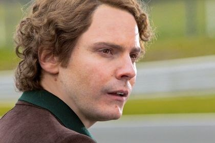 "Daniel Bruhl Daniel Bruhl as Niki Lauda in ""Rush."""