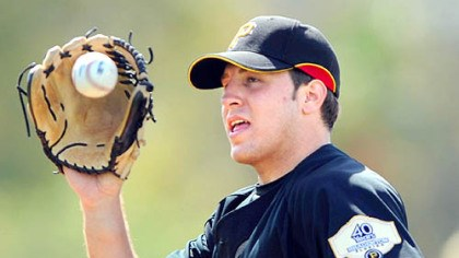 Daniel Moskos Pirates' Daniel Moskos during the first day of workouts for pitcher and catchers at Pirate City in Bradenton, Fla. yesterday.