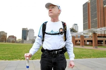 Dave Brown will walk across the United States Dave Brown, a retired Vanguard IT specialist and Navy veteran, will walk across the United States in late February, from Atlantic City, N.J., to San Francisco, roughly tracing the path of the old National Road, to commemorate the August 2011 death of his wife, Joan, from ovarian cancer.
