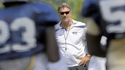 Dave Wannstedt Coach Dave Wannstedt begins the player evaluation process today in Pitt's first scrimmage.