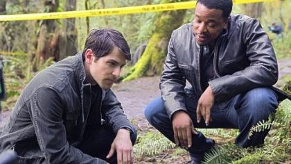 "David Giuntoli and Russell Hornsby David Giuntoli as Nick Burkhardt, left, and Russell Hornsby as Hank Green in ""Grimm."""