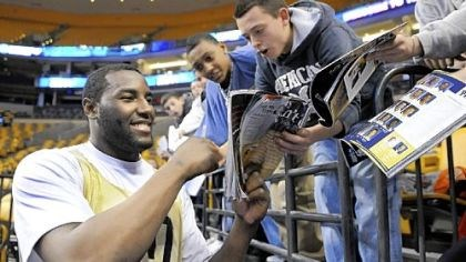DeJuan Blair DeJuan Blair, seen hereobliging fans with autographs during the NCAA tournament, is training harder than he has in his life. He believes his point will be made on NBA draft day.
