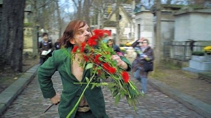 "Denis Lavant In ""Holy Motors,"" Denis Lavant is brilliant in the various roles of Monsieur Oscar, including one in which he eats the flowers he has taken from headstones in a Paris cemetery."