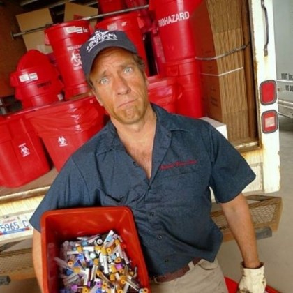 "'Dirty Jobs' Mike Rowe ""Dirty Jobs"" Episode Medical Waste. Mike Rowe."