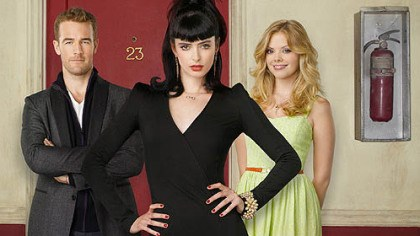"""Don't Trust the B==== in Apt. 23"" ABC's ""Don't Trust the B==== in Apt. 23"" stars James Van Der Beek as James Van Der Beek, Krysten Ritter as Chloe and Dreama Walker as June."