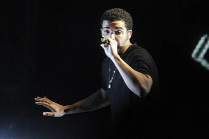 "Drake at First Niagara 2012 ""The Club Paradise Tour was more than just a name; it was Drake's way of trying to bring the perfect club experience to an almost-full First Niagara Pavilion"" in May of 2012."