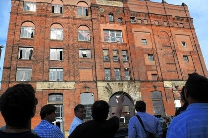 Duquesne Brewery Developers tour the former Duquesne Brewery on the South Side on Thursday.