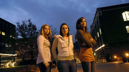 Duquesne University students who wrote to serial killer Duquesne students, from left, Lyndsie Schantz of Lower Burrell, Natalie Sciulli of Crafton and Cara Spencer of Greensburg spearheaded a project writing letters and speaking to serial killer Keith Hunter Jesperson.