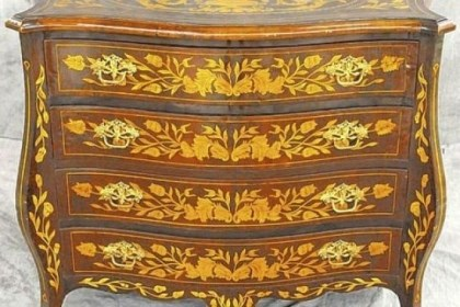 Dutch marquetry inlaid chest Dutch marquetry inlaid chest stood for many years in the front of River House Antiques.