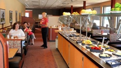 Eat'n Park Updated salad bar and booths at the Eat'n Park along Route 8 in Shaler.