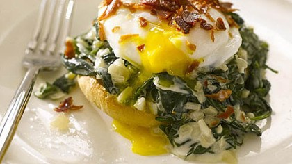 Eggs Florentine Eggs Florentine, as prepared by Italian cooking goddess/TV star Giada De Laurentiis.