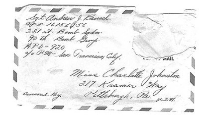 Envelope for Charlotte Johnston A letter addressed to Charlotte Johnston.