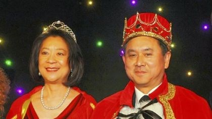 Epilepsy Foundation Mardi Gras Queen Hilda and King Freddie Fu at the Epilepsy Foundation Mardi Gras.