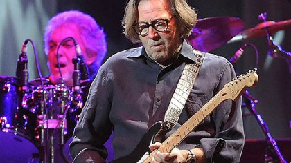 Eric Clapton Guitarist Eric Clapton performs in front of a sellout crowd Thursday in Mellon Arena.