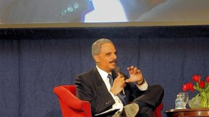 Eric Holder U.S. Attorney General Eric Holder in a question-and-answer session with students at Duquesne University on Wednesday.