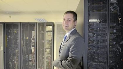 Eric Molitor Eric Molitor, vice president for technology operations for West Penn Allegheny Health System, in the data center at One Allegheny Center.