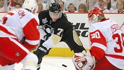 Evgeni Malkin Evgeni Malkin in action against the Red Wings at Mellon Arena.