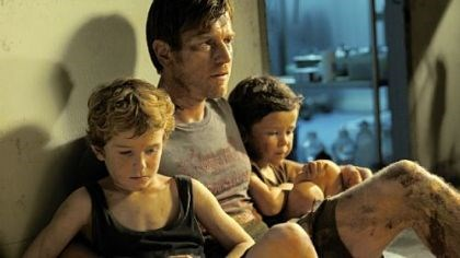 "Ewan McGregor with Samuel Joslin and Oaklee Pendergast Ewan McGregor stars as the father to Samuel Joslin, left, and Oaklee Pendergast in ""The Impossible."""