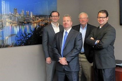 F.N.B. Capital partners F.N.B. Capital partners, from left, Tyson Smith, Stephen Gurgovits Jr., Joe Bute, Matt Harnett